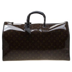 Louis Vuitton Glazed Monogram Canvas Automne Hiver2018 Keepall Bandouliere 50Bag