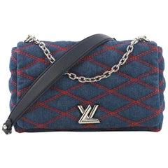Louis Vuitton GO-14 Handbag Malletage Denim MM