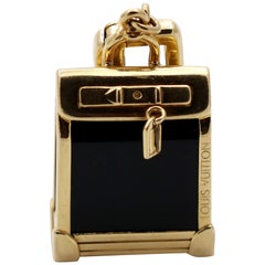 Louis Vuitton Gold and Onyx Bag Charm