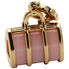 Louis Vuitton Gold and Rose Quartz Purse Charm