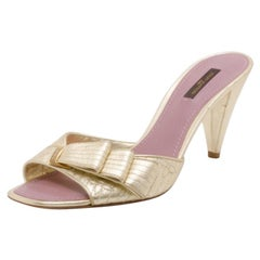 Louis Vuitton Gold Evening Sandals Size 39