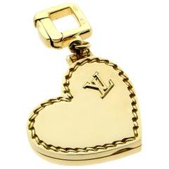 Louis Vuitton Gold Heart Locket Charm