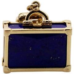 Louis Vuitton Gold Lapis Lazuli Charm