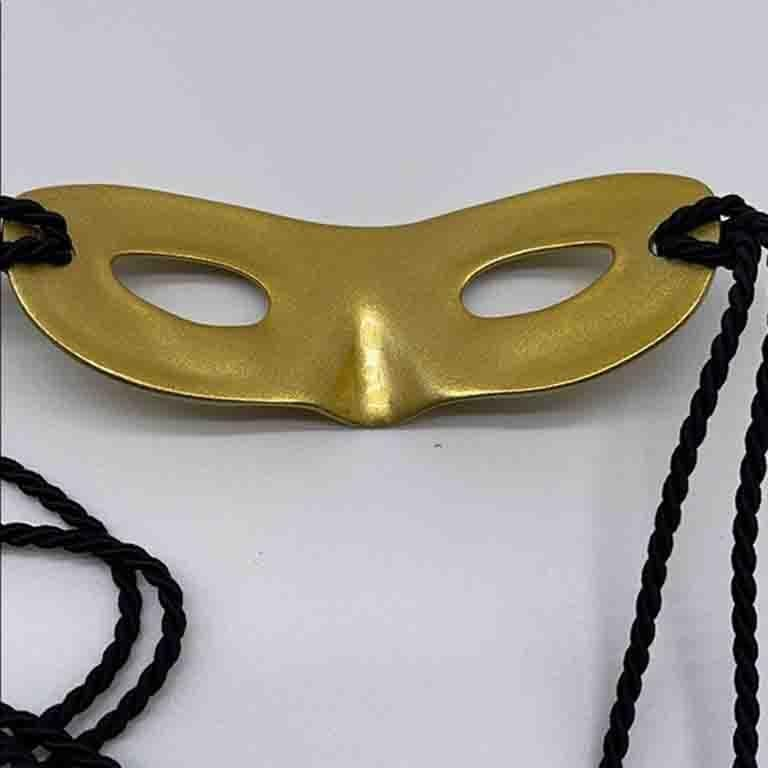 Louis Vuitton Gold Metal Mask Hat Head Band  For Sale 2