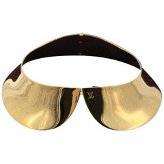 Louis Vuitton Gold Metal Plated Limited Edition Runway Collection Collar