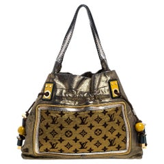 Louis Vuitton Gold Monogram Lurex Limited Edition Sunbird Bag