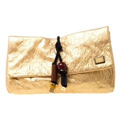 Louis Vuitton Gold MonogramLimited Edition African Queen Clutch Bag