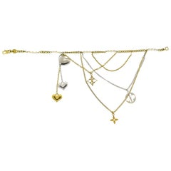 Louis Vuitton Gold Seed Pearl Chain Charm Bracelet