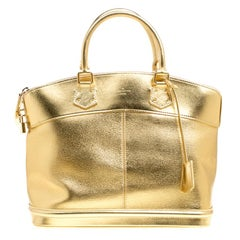 Louis Vuitton Gold Suhali Leder Lockit MM Tasche