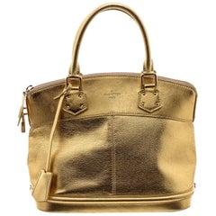Louis Vuitton Gold Suhali Leather Lockit PM Bag