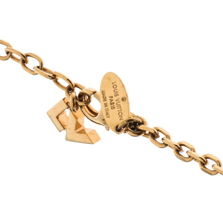 Women's Louis Vuitton Gold Tone Love Letters Timeless Layered Necklace For Sale