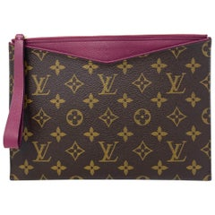Louis Vuitton Grape Pochette Pallas Monogram Leather Canvas Clutch