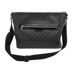 LOUIS VUITTON Graphite Coated Canvas Nick Bag