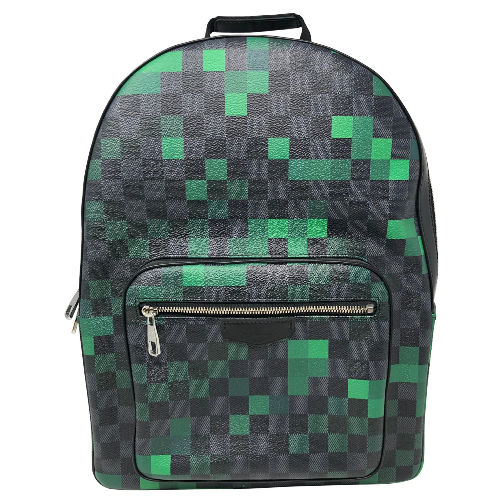 Louis Vuitton Graphite Green Backpack
