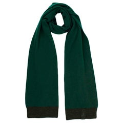 Louis Vuitton Green Cashmere Knit Scarf