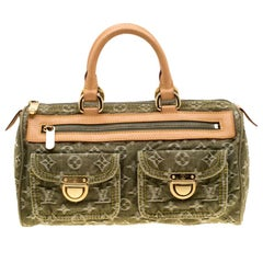 Louis Vuitton Green Denim Monogram Neo Speedy Bag