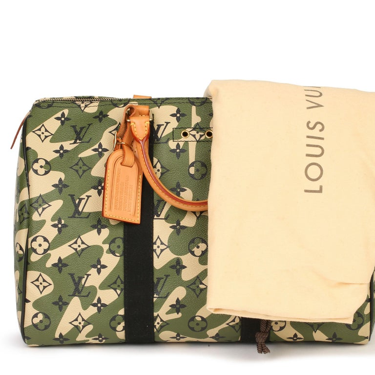 Louis Vuitton Green Monogramouflage Coated Canvas Murakami Speedy 35  For Sale 7