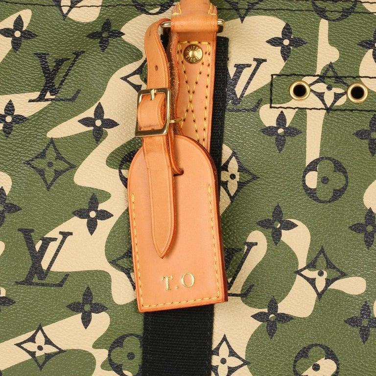 Louis Vuitton Green Monogramouflage Coated Canvas Murakami Speedy 35  For Sale 1
