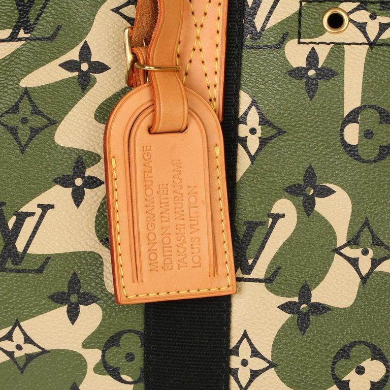 Louis Vuitton Green Monogramouflage Coated Canvas Murakami Speedy 35  For Sale 2
