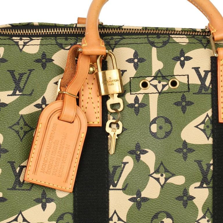 Louis Vuitton Green Monogramouflage Coated Canvas Murakami Speedy 35  For Sale 4