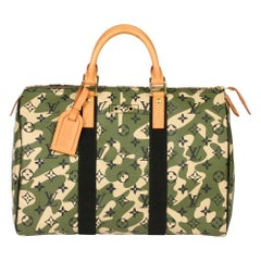 Louis Vuitton Green Monogramouflage Coated Canvas Murakami Speedy 35