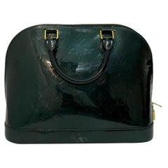 Louis Vuitton Green Vernice Alma MM Bag