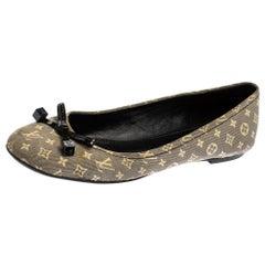 Louis Vuitton Grey Monogram Canvas Idylle Debbie Ballet Flats Size 37.5