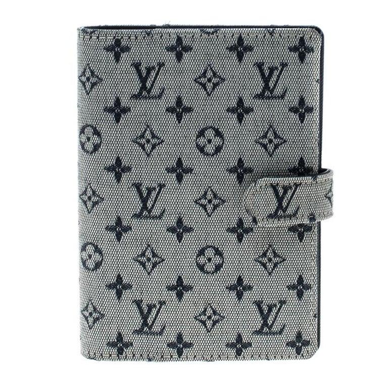 Gray Louis Vuitton Grey Monogram Canvas Small Ring Agenda Cover For Sale