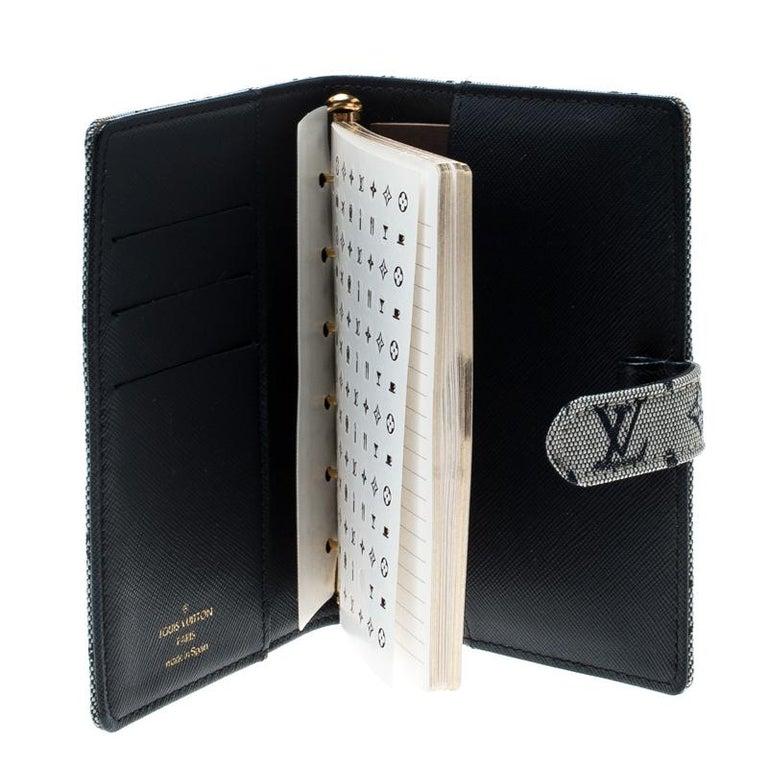 Louis Vuitton Grey Monogram Canvas Small Ring Agenda Cover In Good Condition For Sale In Dubai, Al Qouz 2
