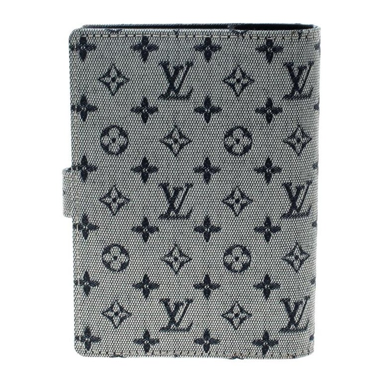 Louis Vuitton Grey Monogram Canvas Small Ring Agenda Cover For Sale