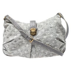 Louis Vuitton Grey Monogram Denim Slightly Bag