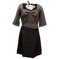 Louis Vuitton Grey Short Sleeved Dress - Size US 6