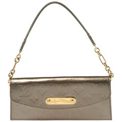 Louis Vuitton Gris Art Deco Monogram Vernis Sunset Boulevard Bag