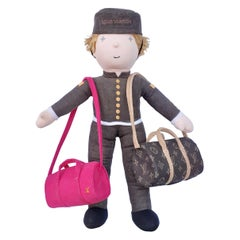 Louis Vuitton Groom Bellboy Doll VIP With 2 Keepall Bags RARE