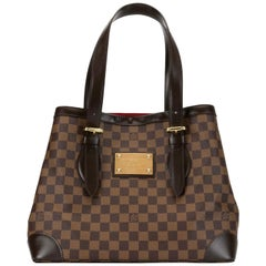 Louis Vuitton Hampstead Handbag Damier Ebene GM, Golden Hardware Like New