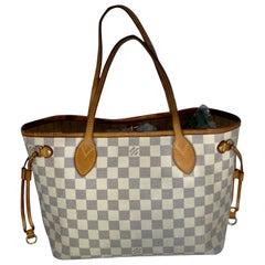 Louis Vuitton Hand Bag Neverfull PM  N51110 Tote Bag - Whites  Damier Azur