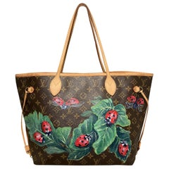 Louis Vuitton Hand Painted Ladybug Neverfull MM Tote