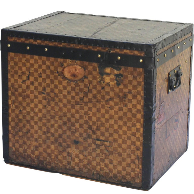 Louis Vuitton Hat Trunk with LS Initials