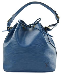 Louis Vuitton Hobo Epi Petit Noe 370322 Blue Leather Shoulder Bag