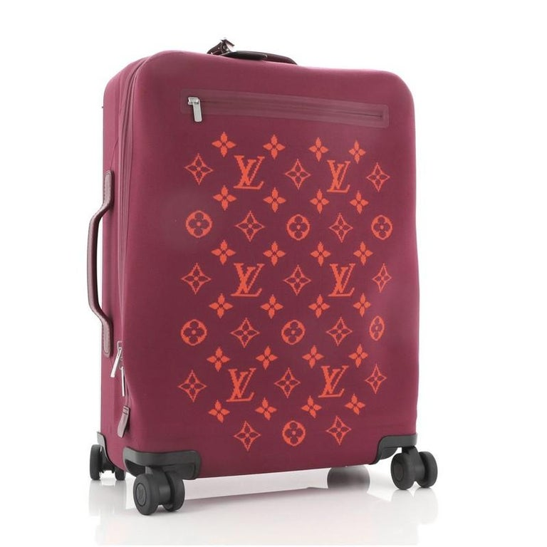 Louis Vuitton Horizon Soft Luggage Monogram Knit 55 In Good Condition For Sale In New York, NY