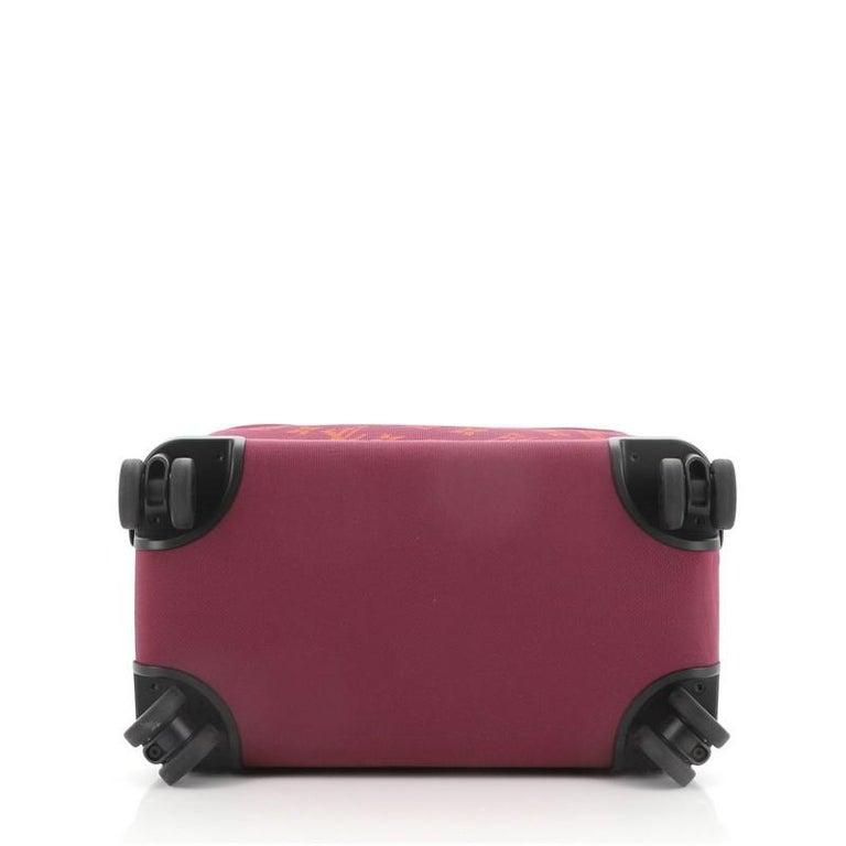 Louis Vuitton Horizon Soft Luggage Monogram Knit 55 For Sale 1