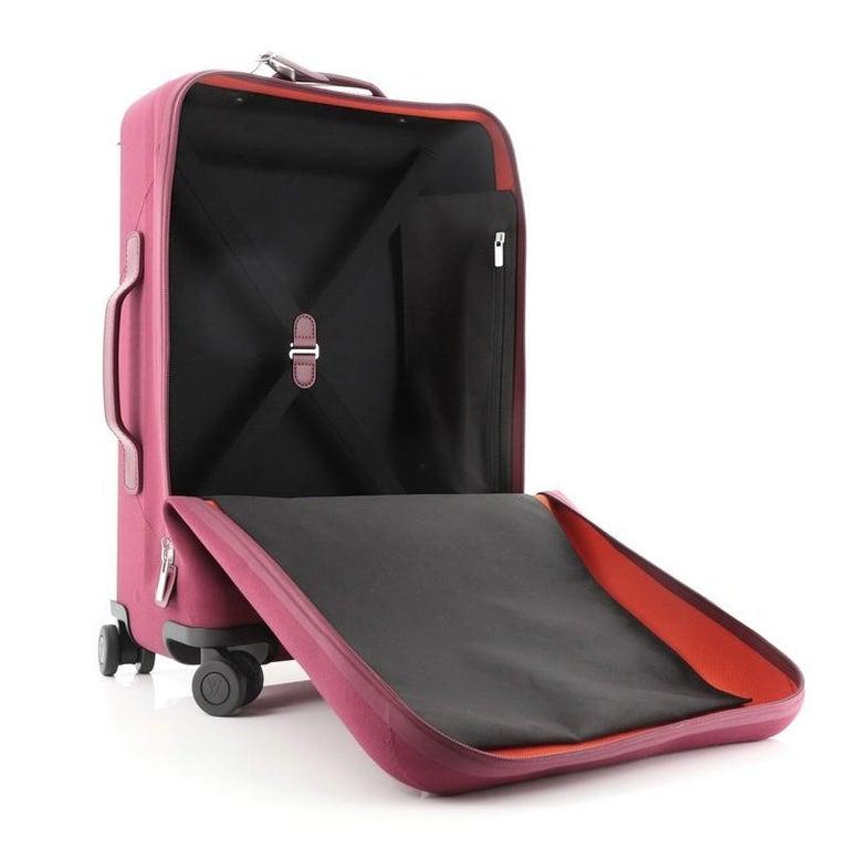 Louis Vuitton Horizon Soft Luggage Monogram Knit 55 For Sale 2