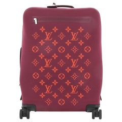 Louis Vuitton Horizon Soft Luggage Monogram Knit 55