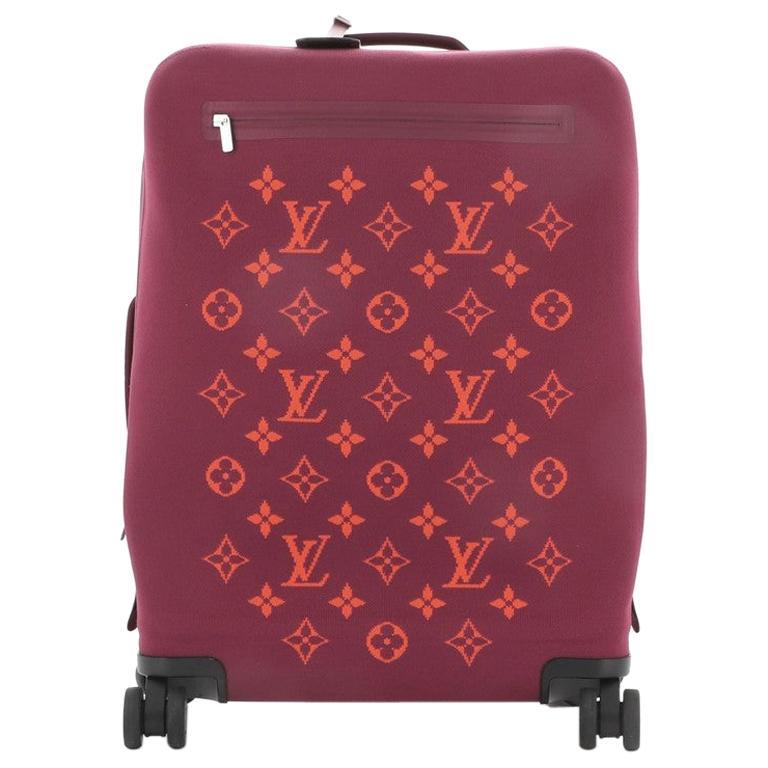 Louis Vuitton Horizon Soft Luggage Monogram Knit 55 For Sale