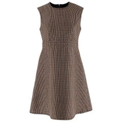 Louis Vuitton Houndstooth Wool Sleeveless Dress - Size US 6