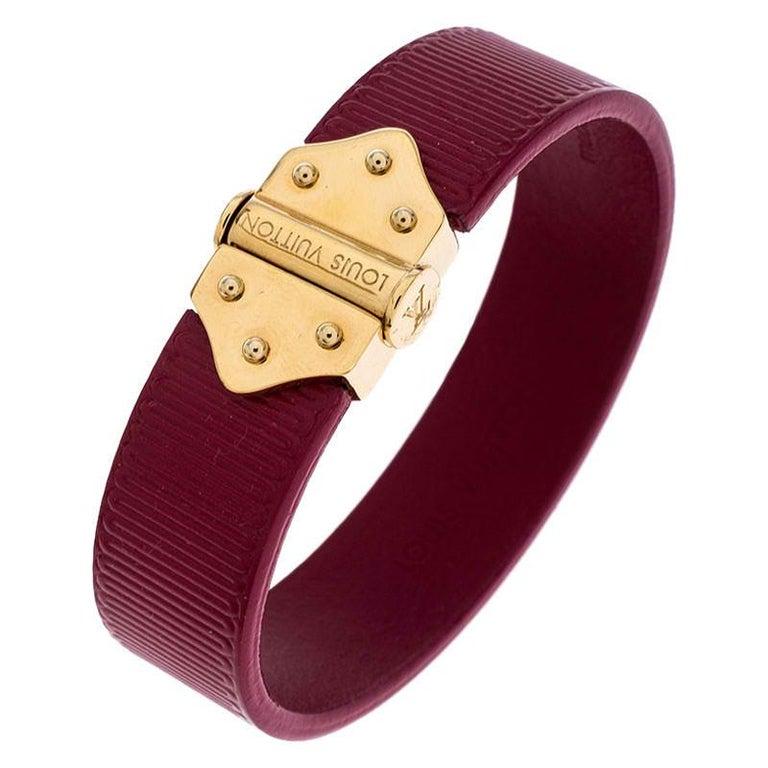 Louis Vuitton Indian Rose Epi Leather Spirit Bracelet 17CM For Sale 1