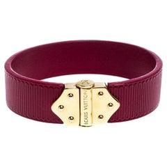 Louis Vuitton Indian Rose Epi Leather Spirit Bracelet 17CM