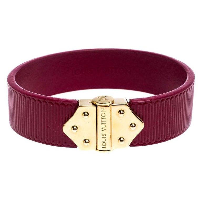 Louis Vuitton Indian Rose Epi Leather Spirit Bracelet 17CM For Sale