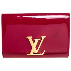 Louis Vuitton Indian Rose Vernis Leather Louise Clutch