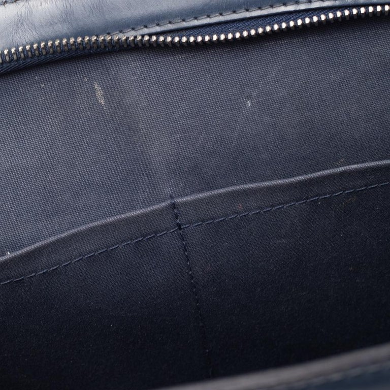 Louis Vuitton Indigo Blue Epi Leather Brea MM Bag For Sale 9